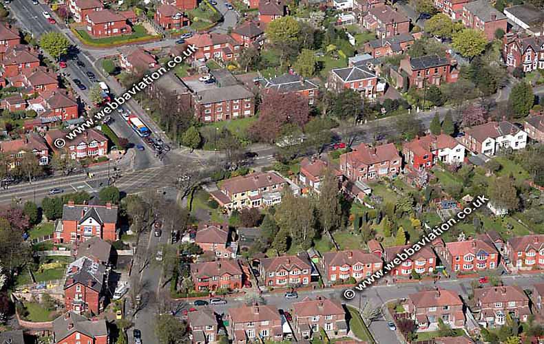 aerial photograph of Stretford Manchester  England UK