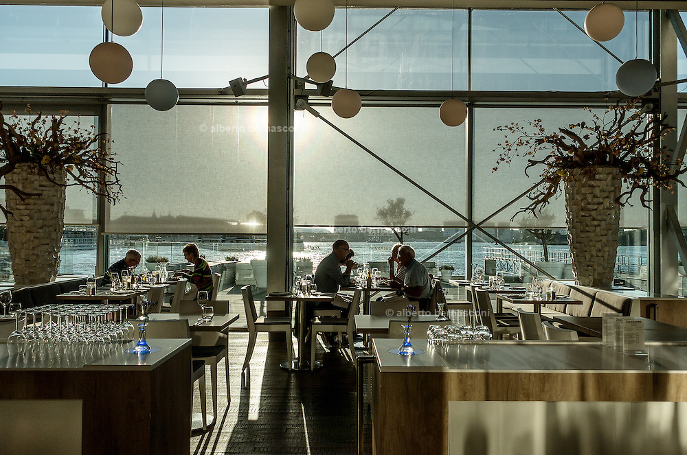 Amsterdam, Bimhuis jazz club, the cafeteria