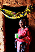 Mother Vincentia Nyirabahutu, Mbujanzire village. Near Gasororo village. Bugesera district. Rwanda..24th August 2011...© Zute Lightfoot / Water Aid.
