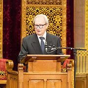 NLD/Den Haag/20171221 - Koning bij sluitingsceremonie Joegoslavie tribunaal, Carmel Agius