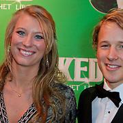 NLD/Scheveningen/20111106 - Premiere musical Wicked, Epke Zonderland en partner Linda Steen