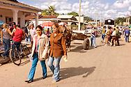 Street in Ciro Redondo, Ciego de Avila, Cuba.