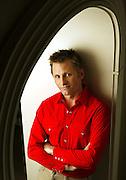 "Viggo Mortensen, star of the movie ""Hidalgo,"" poses in western wear at the Four Seasons Hotel in Atlanta."