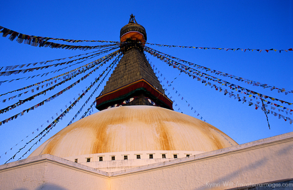 Asia, Nepal, Kathmandu, Bodnath Stupa