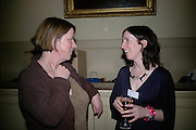Michelle Leete and Anna Goldrein,  Frommer's UK celebrate the launch of 'with Your family.'  Hosted by the directors of Wiley. Courtrooms 1 & 2. Browns. St. Martins Lane. London. 2 May 2007. -DO NOT ARCHIVE-© Copyright Photograph by Dafydd Jones. 248 Clapham Rd. London SW9 0PZ. Tel 0207 820 0771. www.dafjones.com.