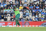 Chris Morris of South Africa batting during the ICC Cricket World Cup 2019 match between South Africa and India at the Hampshire Bowl, Southampton, United Kingdom on 5 June 2019.
