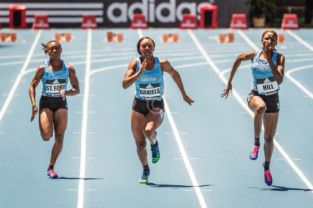 adidas Grand Prix Diamond League Track & Field: Girls adidas Dream 100m, Teahna Daniels, Candace Hill