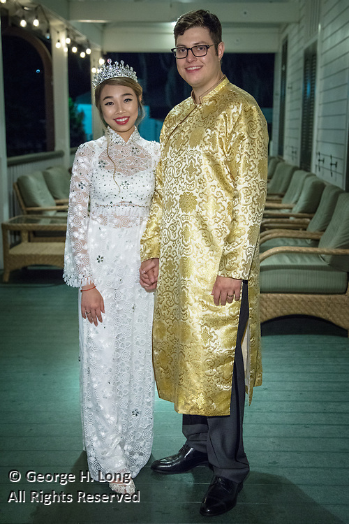 The wedding reception of Amy Ngo and Christian Charvet on June 16, 2018