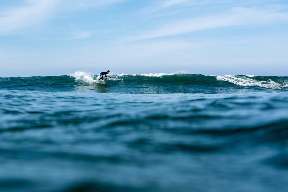 Surfing at San Onofre, CA.