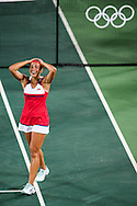 Monica Puig of Puerto Rico wins the Gold Medal in the Women's Tennis Singles on day eight of the XXXI 2016 Olympic Summer Games in Rio de Janeiro, Brazil.<br /> Picture by EXPA Pictures/Focus Images Ltd 07814482222<br /> 13/08/2016<br /> *** UK & IRELAND ONLY ***<br /> <br /> EXPA-EIB-160814-0014.jpg