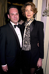 MISS DEBORAH MOORE daughter of actor Roger Moore and MR STEVE BAILIE, at a ball in London on 30th October 2000.OIL 88