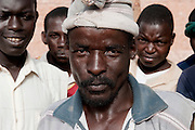 African migrants rapatriated from Libya by IOM ( Internatiional Organization for Migration ) in front  of the IOM office in Dirkou. Most of them have been in Libyan jails where they were ill-treated by libyans authorities.