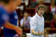 Laurent Tillie trainer coach team of France during the 2013 CEV VELUX Volleyball European Championship match between France and Turkey at Ergo Arena in Gdansk on September 22, 2013.<br /> <br /> Poland, Gdansk, September 22, 2013<br /> <br /> Picture also available in RAW (NEF) or TIFF format on special request.<br /> <br /> For editorial use only. Any commercial or promotional use requires permission.<br /> <br /> Mandatory credit:<br /> Photo by © Adam Nurkiewicz / Mediasport