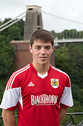 Chris Abbott of Bristol City - Photo mandatory by-line: Kieran McManus/JMP - Tel: Mobile: 07966 386802 31/07/2013 - SPORT - FOOTBALL - Avon Gorge Hotel - Clifton Suspension bridge - Bristol -  Team Photo