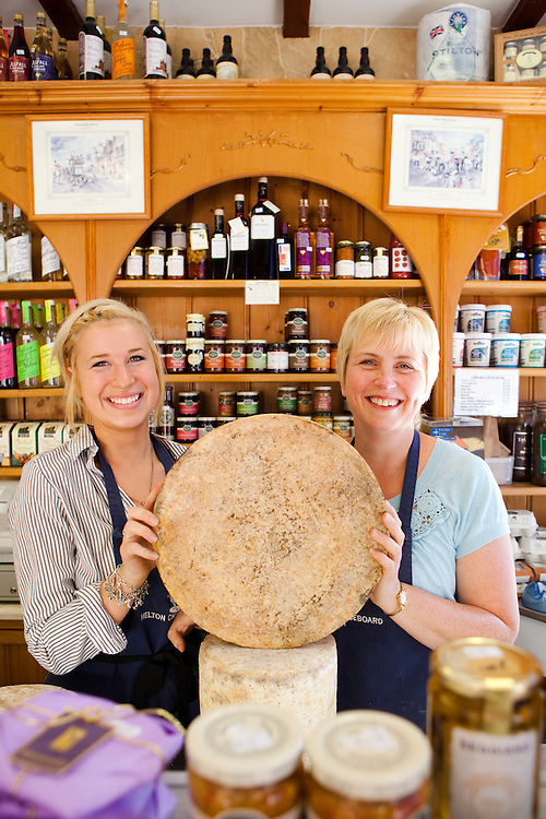 Emma Brown (left) and her mum, Lynn Brown in the Melton Cheeseboard, Melton Mowbray