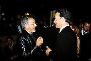 Steven Speilberg and Tom Hanks. Post Golden Globes party. Beverley Hilton. 21 January 2001. © Copyright Photograph by Dafydd Jones 66 Stockwell Park Rd. London SW9 0DA Tel 020 7733 0108 www.dafjones.com