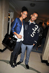 Model CHANEL IMAN and CHRISTOPHER SMITH at a party hosted by Mulberry during London fashion Week 2009 at Claridge's Hotel, Brook Street, London on 20th September 2009.