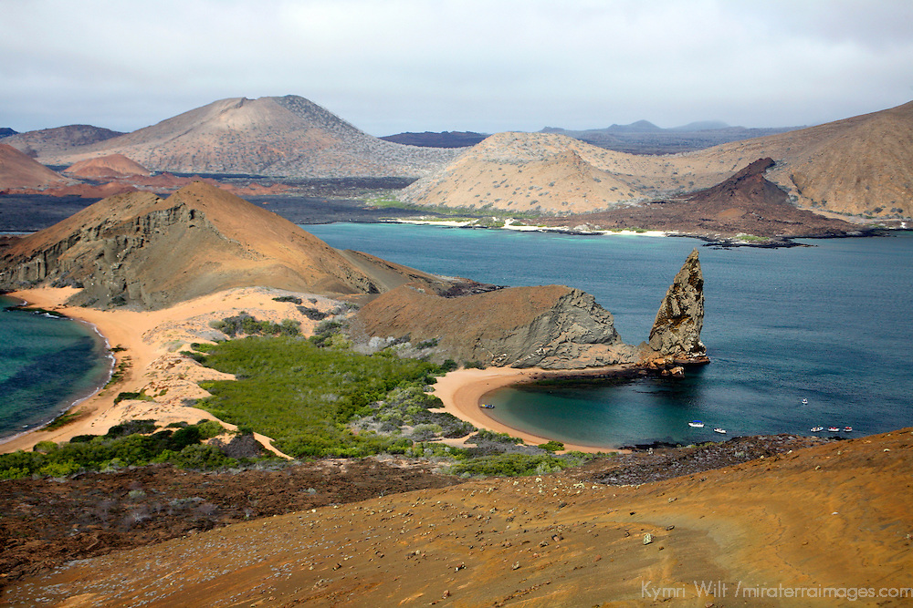 Pinnacle Rock of Bartholomew Island in the Galapagos, Ecuador, South America.