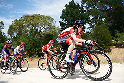 Nicole Hanselmann (SUI) crosses the gravel sector on Stage 3 of 2020 Santos Women's Tour Down Under, a 109.1 km road race from Nairne to Stirling, Australia on January 18, 2020. Photo by Sean Robinson/velofocus.com