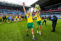 Marco Stiepermann and Timm Klose as Norwich City celebrate winning the Sky Bet Championship as well as promotion - Rogan/JMP - 05/05/2019 - Villa Park - Birmingham, England - Aston Villa v Norwich City - Sky Bet Championship.
