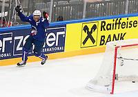 Joie Laurent Meunier  - 05.05.2015 - Autriche / France  - Championnats du Monde de Hockey sur Glace 2015 -Prague<br />Photo : Xavier Laine / Icon Sport