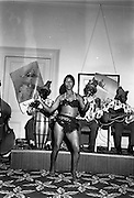 "11/05/1962<br /> 05/11/1962<br /> 11 May 1962<br /> Bahamas Travel Association Reception in the Shelbourne Hotel, Dublin. 26yr-old Bahamas Dancer Olga Olivier, fire dancer with Bahamas Travel Group. Dancing during the reception was stopped by management of the hotel ""as the chandelier of the room under the reception room was shaking"". Next time they suggested that the ballroom be used for the reception!"