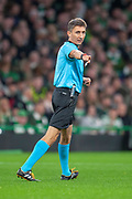 Polish referee Pawel Gil during the UEFA Europa League group stage match between Celtic FC and Rosenborg BK at Celtic Park, Glasgow, Scotland on 20 September 2018.