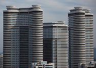 New buildings in Pyongyang, North Korea.