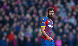 LONDON, ENGLAND - Saturday, February 21, 2015: Crystal Palace's Joe Ledley in action against Arsenal during the Premier League match at Selhurst Park. (Pic by David Rawcliffe/Propaganda)