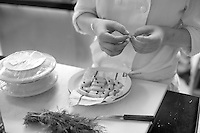 in the kithens of the restaurant le Meurice - three Michelin stars - Chef is Yannick Alleno - photograph by Owen Franken