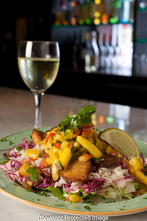 Vino Vino's Lettuce Wrapped fish taco $4.00 during happy hour.(Jodi Miller/Alive).