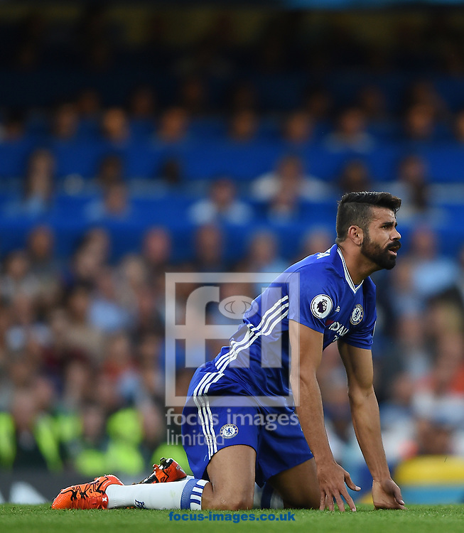 Chelsea's Diego Costa during the Premier League match at Stamford Bridge, London<br /> Picture by Daniel Hambury/Focus Images Ltd +44 7813 022858<br /> 15/08/2016