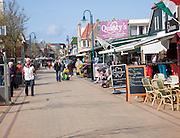 Tourist cafes and shops, De Koog, Texel, Netherlands,