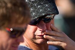 Blaz Kavcic and his father Aleksander Kavcic watching semifinal match between Aljaz Bedene (SLO) and Grega Zemlja (SLO) during day six of the ATP Challenger Tour BMW Ljubljana Open 2011, on September 24, 2011, in TC Ljubljana Siska, Slovenia. (Photo by Vid Ponikvar / Sportida)