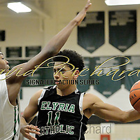 2.17.2016 Elyria Catholic at Bedford Varsity Basketball