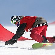 Angus Gray, New Zealand, in action during the Duel Giant Slalom event at the Snow Sports NZ Junior Freeski and Snowboard Nationals at Cardrona Alpine Resort, Wanaka,  New Zealand, 27th September 2011. Photo Tim Clayton...