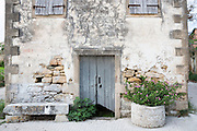 Shabby old house in ancient village of Peroulades in Northern Corfu, , Greece