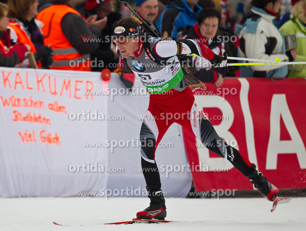 14.01.2011, Chiemgau Arena, Ruhpolding, GER, IBU Biathlon Worldcup, Ruhpolding, Sprint Men, im Bild Friedrich Pinter (AUT) // Friedrich Pinter (AUT) during IBU Biathlon World Cup in Ruhpolding, Germany, EXPA Pictures © 2011, PhotoCredit: EXPA/ J. Feichter