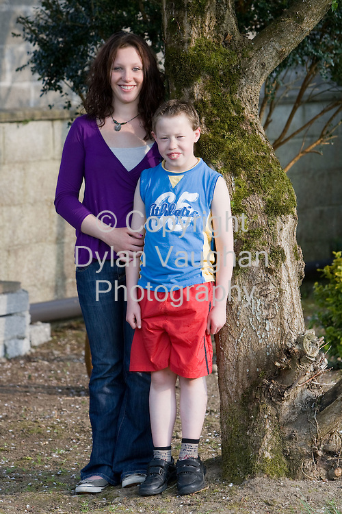 12/5/2008.Annie Maher aged 18 and her brother Bobby aged 10 pictured at home in Kilmanagh, county Kilkenny Ireland..Picture Dylan Vaughan.