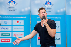 Stand up comic Klemen Bucan at presentation of Team Slovenia for 12th European Youth Olympic Summer Festival in Utrecht, Netherlands  on July 9, 2013 in Hotel Union, Ljubljana, Slovenia. (Photo by Vid Ponikvar / Sportida.com)