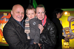 ALDO and NIKKI ZILLI and their son ROCCO at the premier of Ben Ten Alien Force at the Old Billingsgate Market, City of London on 15th February 2009.