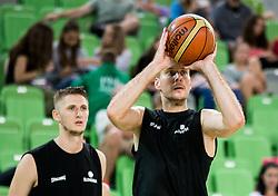 Gezim Morina and Zoran Dragic during public training session of Slovenian National Basketball team, on August 1, 2016 in Arena Stozice, Ljubljana, Slovenia. Photo by Vid Ponikvar / Sportida