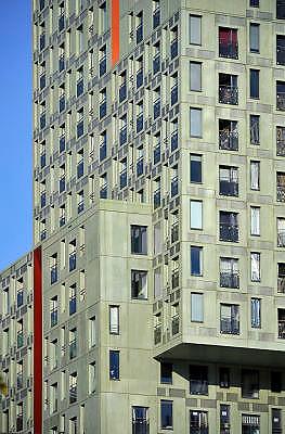 Nederland, Rotterdam, 2-10-2011Nieuwe architectuur in Rotterdam.Woontoren Stadsgezicht, wolkenkrabber.Foto: Flip Franssen/Hollandse Hoogte