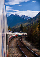 Train Journey through the Rocky Mountains in Canada