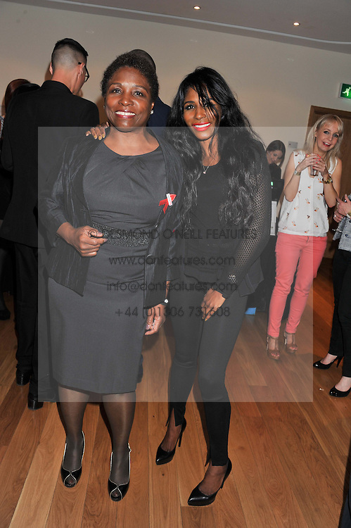 Left to right, MIQUEL BROWN her daughter and SINITTA at West End Eurovision 2013 held at the  Dominion Theatre, London on 23rd May 2013.