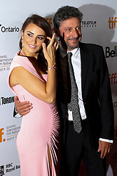 Actress PENELOPE CRUZ with director SERGIO CASTELITO at the at the 'Twice Born' premiere during the 2012 Toronto International Film Festival at Roy Thomson Hall, September 13th 2012.  Photo by David Tabor/ i-Images.