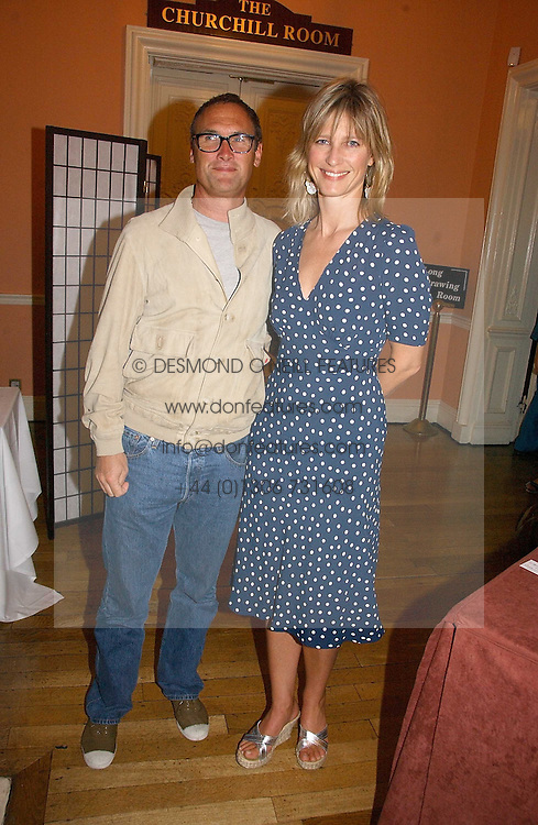 A A GILL and NICOLA FORMBY at a party to celebrate the publication of 'A Much Married Man' by Nicholas Coleridge held at the ESU, Dartmouth House,  37 Charles Street, London W1 on 4th May 2006.<br /><br />NON EXCLUSIVE - WORLD RIGHTS