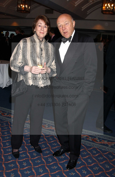 SIR JOHN &amp; LADY TUSA at the 2005 Whitbread Book Awards 2005 held at The Brewery, Chiswell Street, London EC1 on 24th January 2006. The winner of the 2005 Book of the Year was Hilary Spurling for her biography 'Matisse the Master'.<br /><br />NON EXCLUSIVE - WORLD RIGHTS