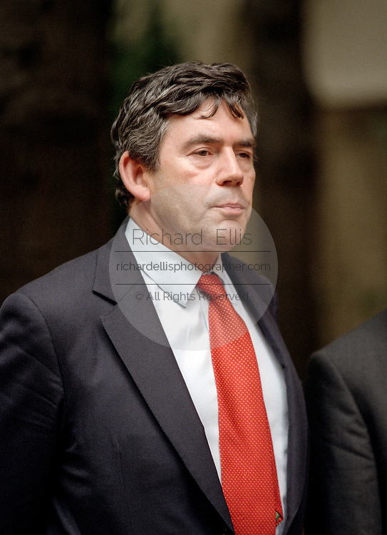United Kingdom's Chancellor of the Exchequer Gordon Brown during the group picture for the Annual IMF and World Bank meeting October 3, 1998 in Washington, DC.