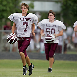 13 August 2009:  The St. Thomas Falcons scrimmage at their practice field in Hammond, LA.